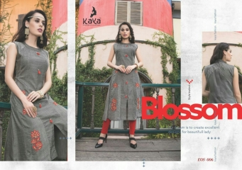 KAYA EOS PURE DENIM DOOBY KURTI WHOLESALE DEALER 006
