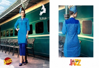 KAYA JAZZ VOL 2 COTTON CAMBRIC KURTI COLLECTION WHOLESALE SURAT DEALER 2001