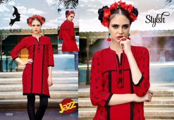 KAYA JAZZ VOL 2 COTTON CAMBRIC KURTI COLLECTION WHOLESALE SURAT DEALER 2004