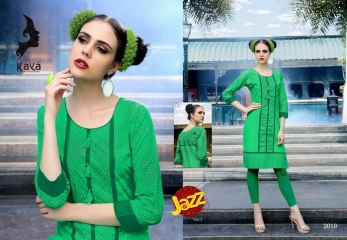 KAYA JAZZ VOL 2 COTTON CAMBRIC KURTI COLLECTION WHOLESALE SURAT DEALER 2010