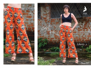 KAYA LIBERTY 3 REYON PRINT PLAZO BOTTOM WHOLESALER SURAT 07
