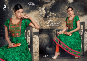 KAYA TULIP COTTON TRENDY KURTI WHOLESALE DEALER SURAT 02