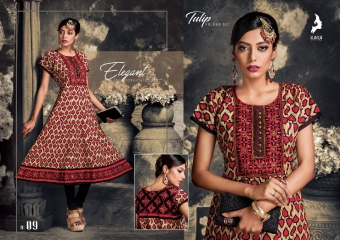 KAYA TULIP COTTON TRENDY KURTI WHOLESALE DEALER SURAT 09