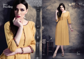 KAYZA HEAVY FLEX COTTON KURTI WHOLESALE SURAT 2