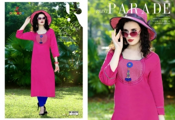 KERSOM BASICS HEAVY LINEN KURTI WHOLESALE RATE 111