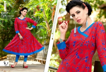 KERSOM BY PRINCESS COTTON CAMBRIC PRINT CASUAL WEAR KURTI COLLECTION WHOLESALE PRICE 109