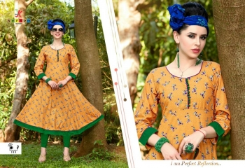KERSOM BY PRINCESS COTTON CAMBRIC PRINT CASUAL WEAR KURTI COLLECTION WHOLESALE PRICE 111
