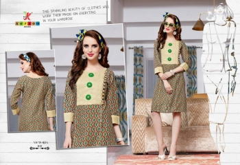 KERSOM VICTORIA CATALOGUE COTTON PRINTED CASUAL WEAR KURTI COLLECTION WHOLESALE PRICE 102