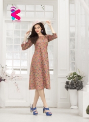 KERSOM VIRONICA KURTI COLLECTION ONLINE WHOLESALER DEALER SURAT 1006