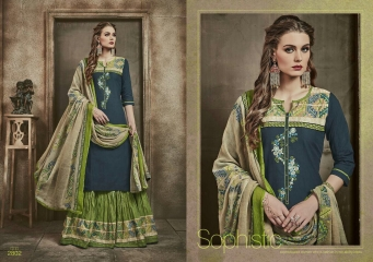 KESSI FABRICS BELLEZA VOL 3 PURE COTTON SUITS WHOLESALE SURAT 2802