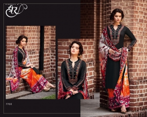 KIMORA FASHION HEER 28 COTTON STRAIGHT EMBROIDERED SUITS WHOLESALER 7703