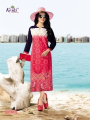 KOIKI DOVE LONG TOP KURTI WHOLESALE SURAT ONLINE DEALER 1203