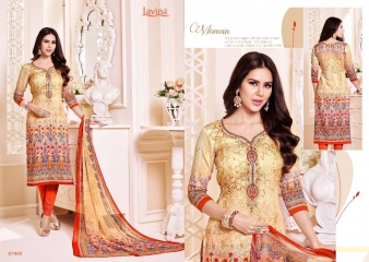 LAVINA VOL 67 COTTON SATIN DIGITAL SALWAR KAMEEZ WHOLESALE 67002