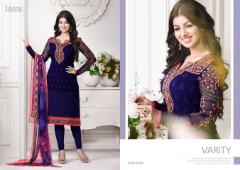 LAVINA VOL 9 AAYESHA GEORGETTE EMBROIDERY COLLECTION EXPORTER SURAT 9006