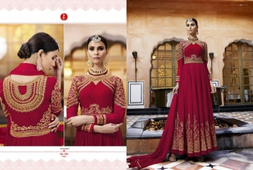 LEO AAFREEN ROYAL GEORGETTE EMBROIDERED SALWAR KAMEEZ WHOLESALE SURAT 11001 A