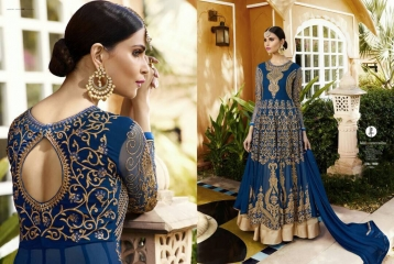 LEO AAFREEN ROYAL GEORGETTE EMBROIDERED SALWAR KAMEEZ WHOLESALE SURAT 11006 B