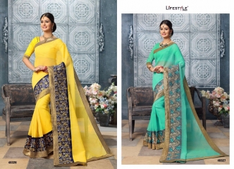 LIFESTYLE BY APPLIC COTTON VOL 5 CATALOGUE COTTON WEAVING SAREES WHOLESALE SURAT 48326-48327