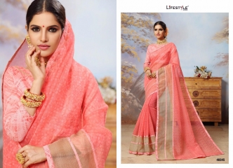 LIFESTYLE COTTON VALLEY VOL 2 COTTON PRINT CASUAL WEAR SAREES COLLECTION WHOLESALE PRICE 48345