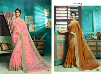 LIFESTYLE MUNNAR COTTON SAREES WHOLESALE PRICE SURAT 47311-47312