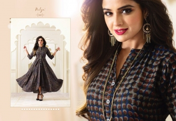 LT FABRICS NITYA FASHION TRENDY WEAR GOWN COLLECTION WHOLESALE PRICE SURAT 1607