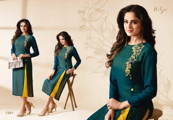 LT FABRICS NITYA FASHION VOL 12 NX GEORGETTE WHOLESALE SURAT DEALER 1201