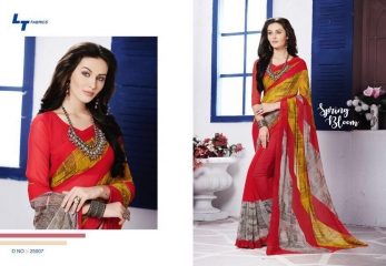 LT FABRICS ZARA 19 GEORGETTE PRINTS SAREES COLLECTION WHOLESALE 25007
