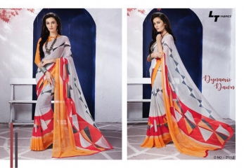 LT FABRICS ZARA 19 GEORGETTE PRINTS SAREES COLLECTION WHOLESALE 25012
