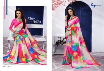 LT FABRICS ZARA 19 GEORGETTE PRINTS SAREES COLLECTION WHOLESALE 25013