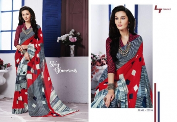 LT FABRICS ZARA 19 GEORGETTE PRINTS SAREES COLLECTION WHOLESALE 25014