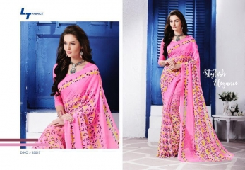LT FABRICS ZARA 19 GEORGETTE PRINTS SAREES COLLECTION WHOLESALE 25017