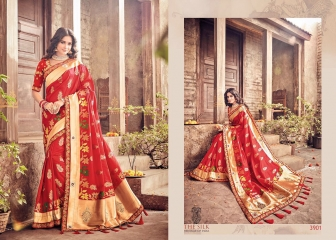 M N BY SILK HERITAGE PARTY WEAR DESIGNER SAREE COLLECTION WHOLESALE SURAT 3901 A