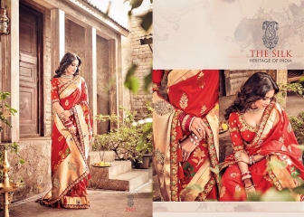 M N BY SILK HERITAGE PARTY WEAR DESIGNER SAREE COLLECTION WHOLESALE SURAT 3901 B