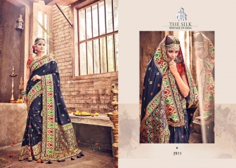 M N BY SILK HERITAGE PARTY WEAR DESIGNER SAREE COLLECTION WHOLESALE SURAT 3911 A