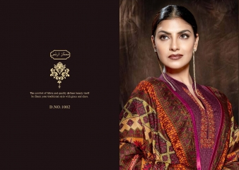 MUMTAAZ ARTS KAPAS JAM SATIN EMBROIDERED SUITS WHOLESALE DEALER SURAT 1002 B