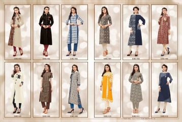 NITYA NX VOL 14 BY LT FABRICS COTTON CASUAL WEAR KURTI COLLECTION WHOLESALE SURAT T