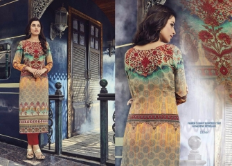 OM TEX BY ZEENAT COTTON SATIN TUNICS 11092