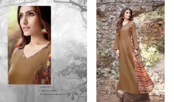 OM TEX ENVIENA COTTON SATIN LONG DRESS WHOLESALE SURAT 11064