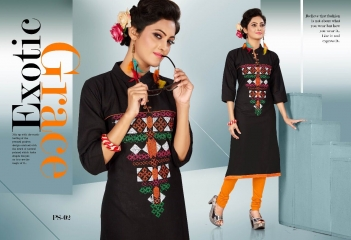 PASS PASS BY SWARNA PANKH COTTON WITH EMBROIDERY CASUAL WEAR KURTI COLLECTION WHOLESALE AT SURAT 1