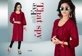 PASS PASS BY SWARNA PANKH COTTON WITH EMBROIDERY CASUAL WEAR KURTI COLLECTION WHOLESALE AT SURAT 4