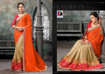 PIKASHO FASHION MAGIC MIRROR VOL 3 DESIGNER SAREES WHOLESALER SURAT 2727