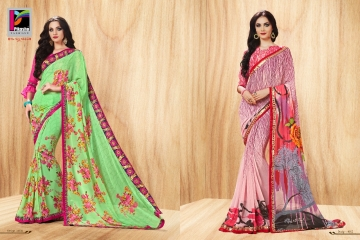 PIKASHO PRIYANKA FANCY SAREES WHOLESALE RATE SURAT 4004-4005