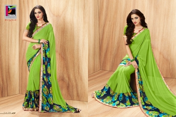 PIKASHO PRIYANKA FANCY SAREES WHOLESALE RATE SURAT 4009