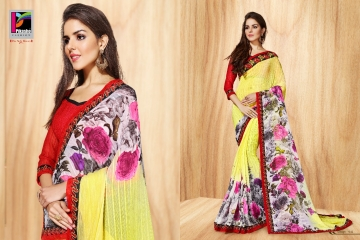PIKASHO PRIYANKA FANCY SAREES WHOLESALE RATE SURAT 4012
