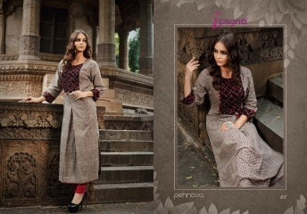 PSYNA PEHNAVA VOL 1 COTTON CAMRIC KURTI WHOLESALE SURAT 01