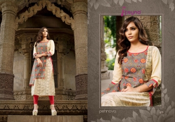 PSYNA PEHNAVA VOL 1 COTTON CAMRIC KURTI WHOLESALE SURAT 05