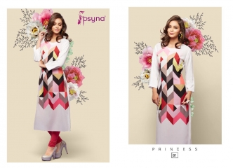 PSYNA PRINCESS VOL 8 REYON CASUAL WEAR KURTI COLLECTION WHOLESALE PRICE SURAT 81