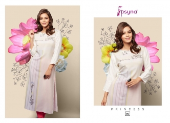 PSYNA PRINCESS VOL 8 REYON CASUAL WEAR KURTI COLLECTION WHOLESALE PRICE SURAT 86