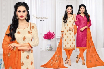 R R FASHION HUM TUM VOL 3 CHANDERI SUITS WHOLESALE SURAT 2006