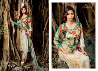 R VEE GOLD ARDEN DIGITAL LOVE MODAL SILK SUITS EXPORTER SURAT 229