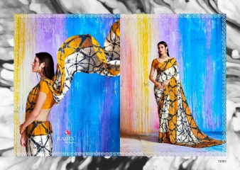 RAJTEX KHALISSI PURE CRAPE PRINT DESIGNER SAREES CATALOGUE WHOLESALE PRICE 31003